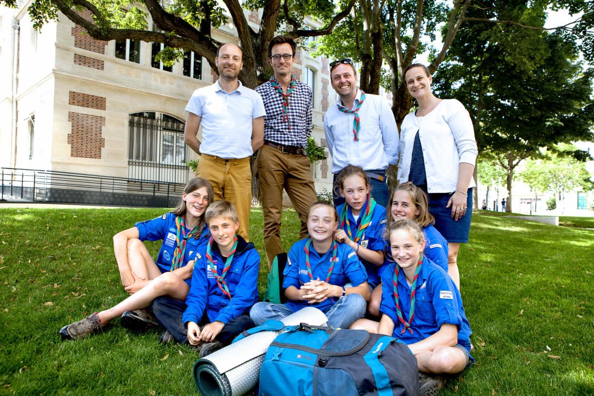 jeunes Scouts et Guides de France du groupe Saint-Pierre de Montrouge