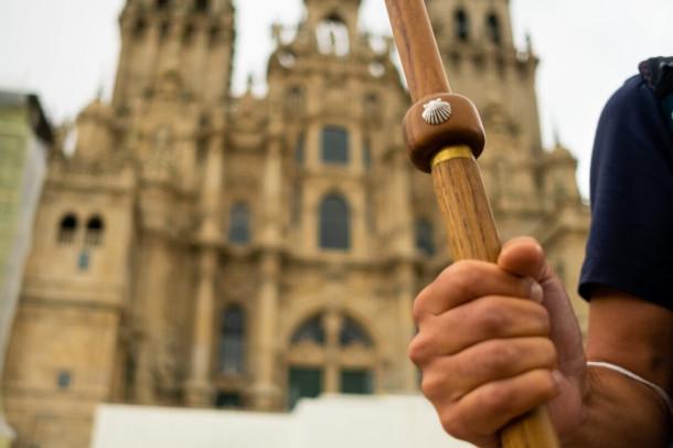 cathédrale Saint-Jacques de Compostelle lors d'un pèlerinage